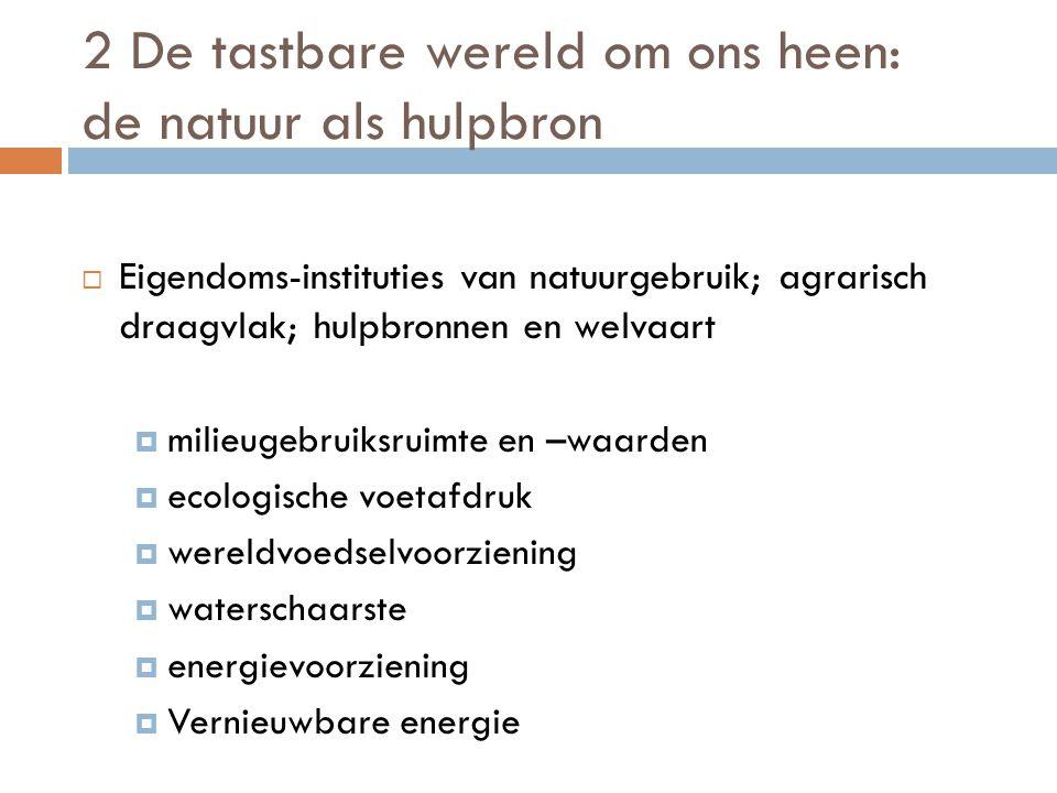 2 De tastbare wereld om ons heen: de natuur als hulpbron