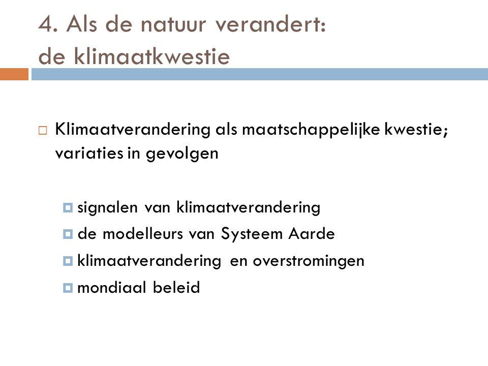 4. Als de natuur verandert: de klimaatkwestie