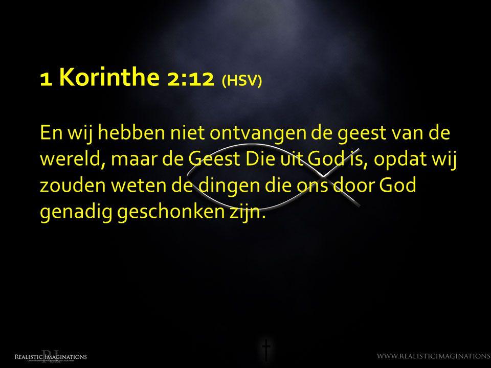 1 Korinthe 2:12 (HSV)