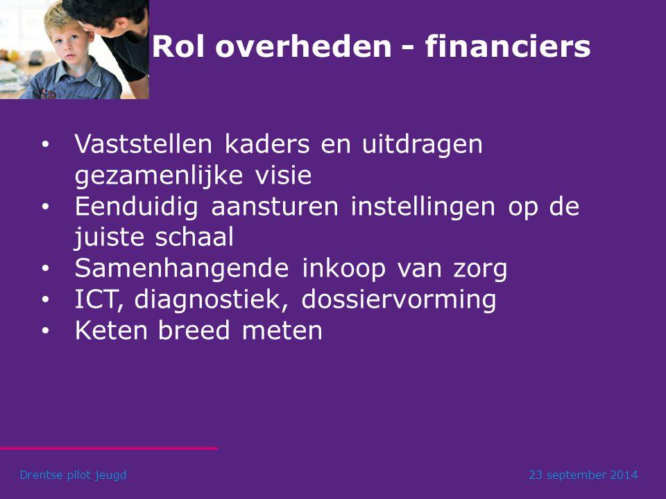 Rol overheden - financiers