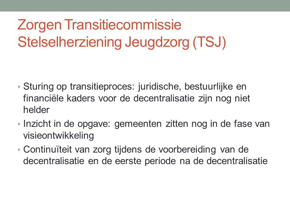 Zorgen Transitiecommissie Stelselherziening Jeugdzorg (TSJ)