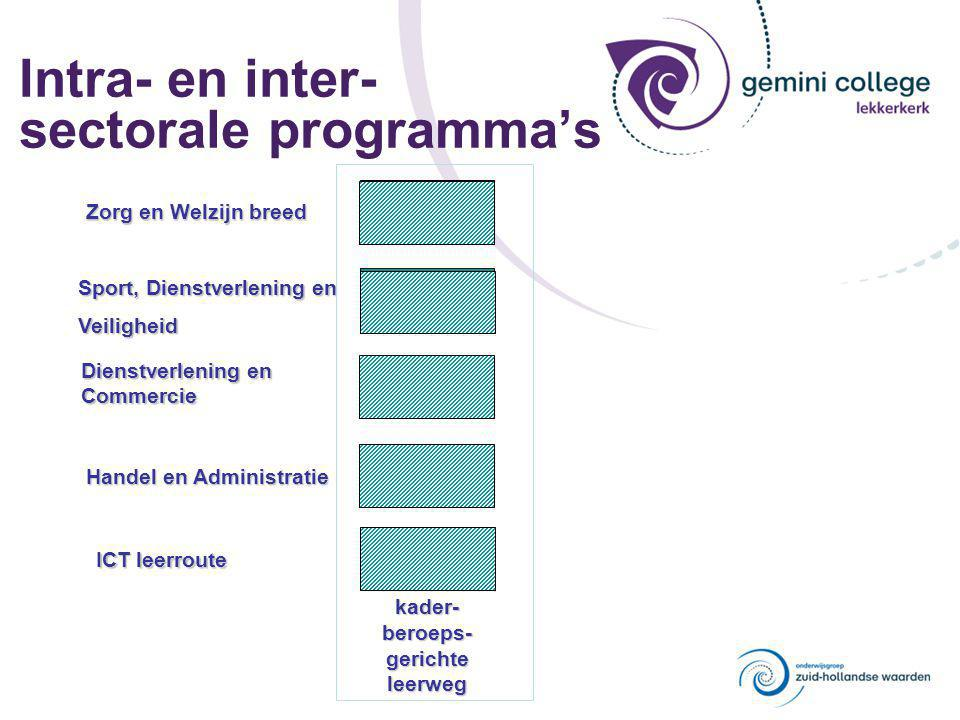 Intra- en inter- sectorale programma's