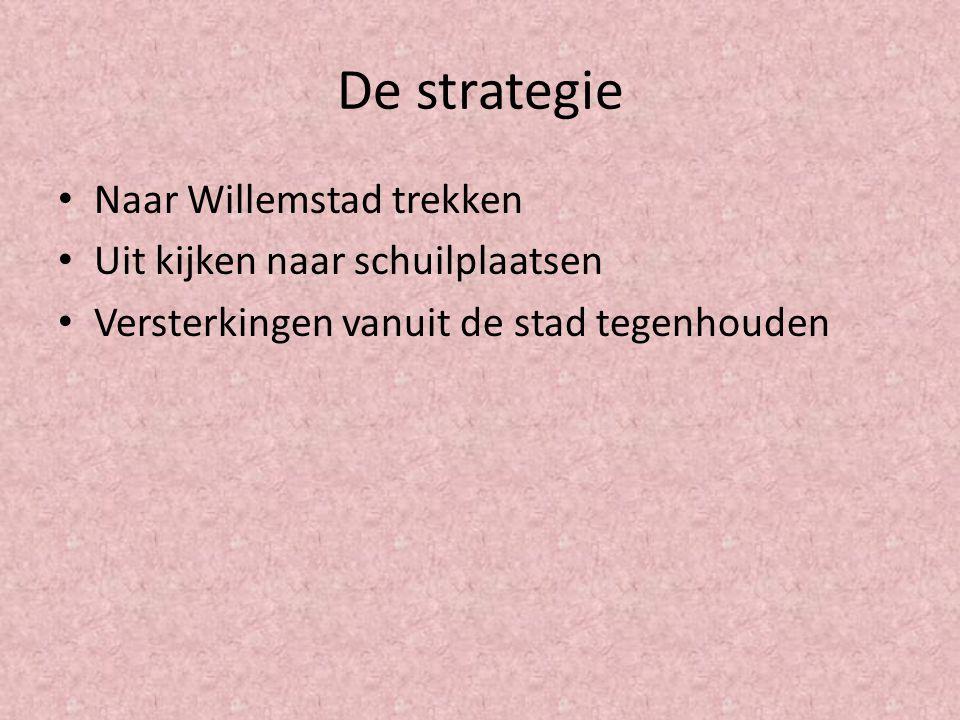 De strategie Naar Willemstad trekken Uit kijken naar schuilplaatsen