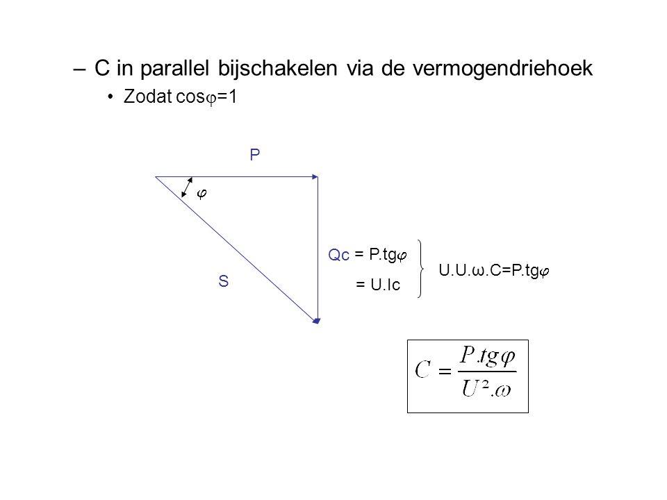 C in parallel bijschakelen via de vermogendriehoek