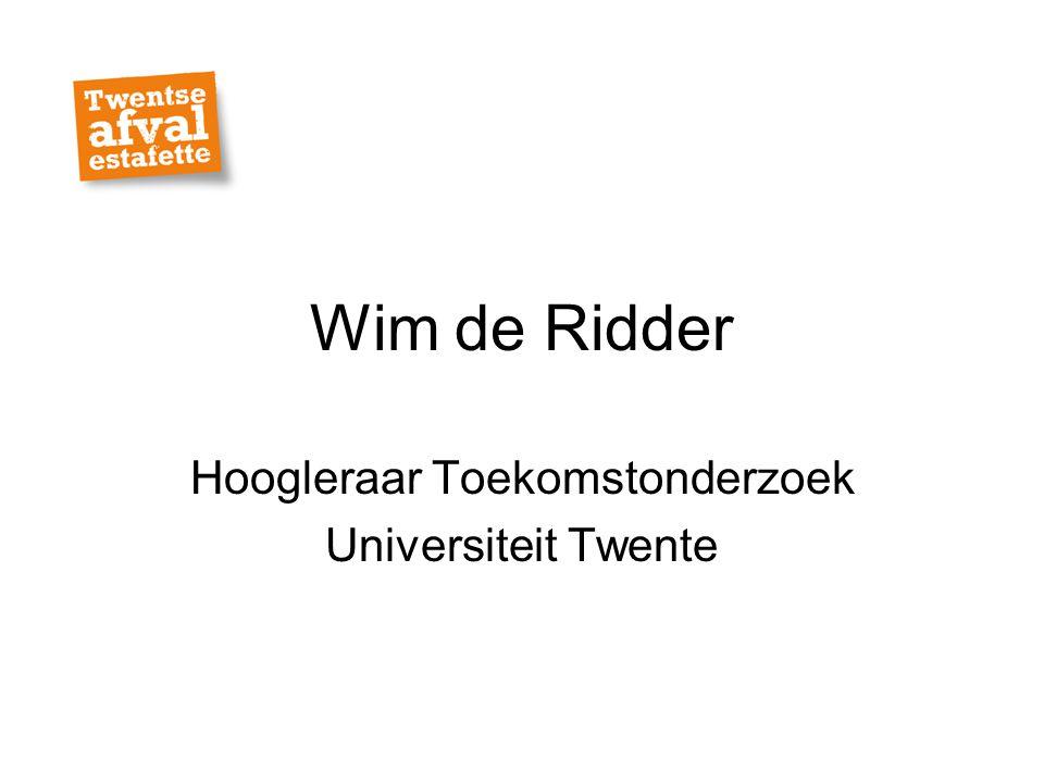 Hoogleraar Toekomstonderzoek Universiteit Twente