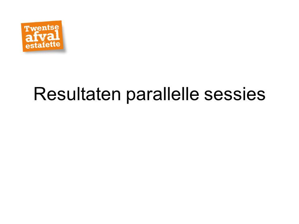 Resultaten parallelle sessies