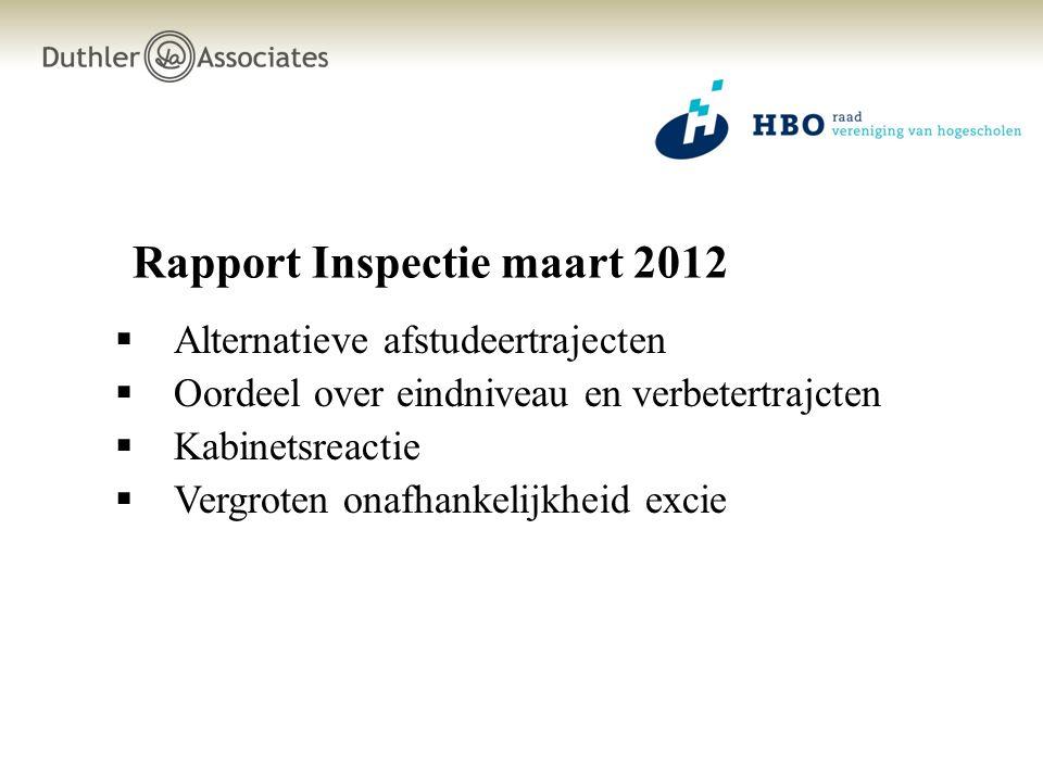 Rapport Inspectie maart 2012