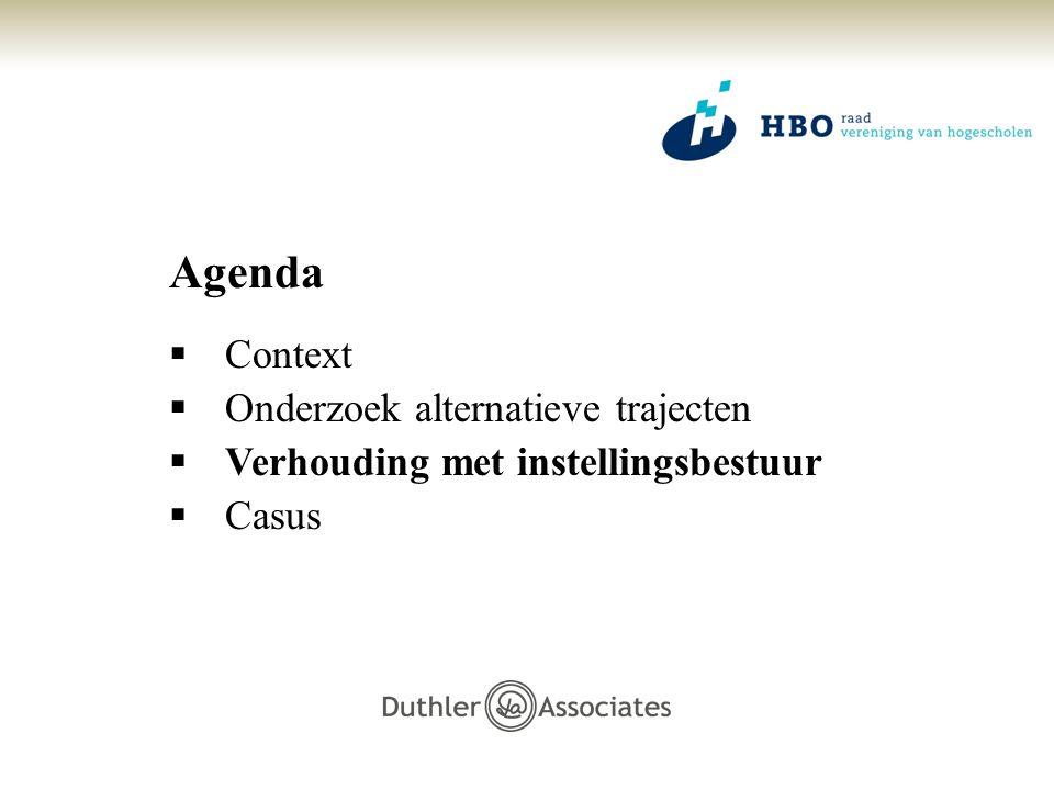 Agenda Context Onderzoek alternatieve trajecten