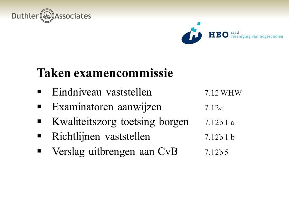 Taken examencommissie