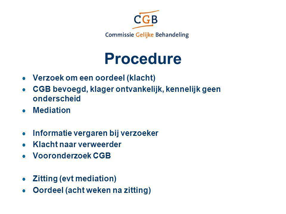 Procedure Verzoek om een oordeel (klacht)