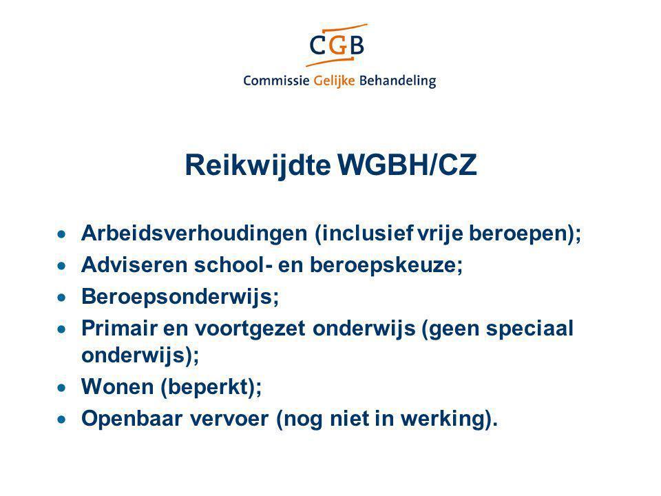 Reikwijdte WGBH/CZ Arbeidsverhoudingen (inclusief vrije beroepen);