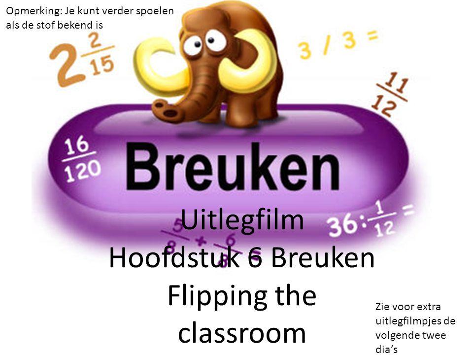 Uitlegfilm Hoofdstuk 6 Breuken Flipping the classroom