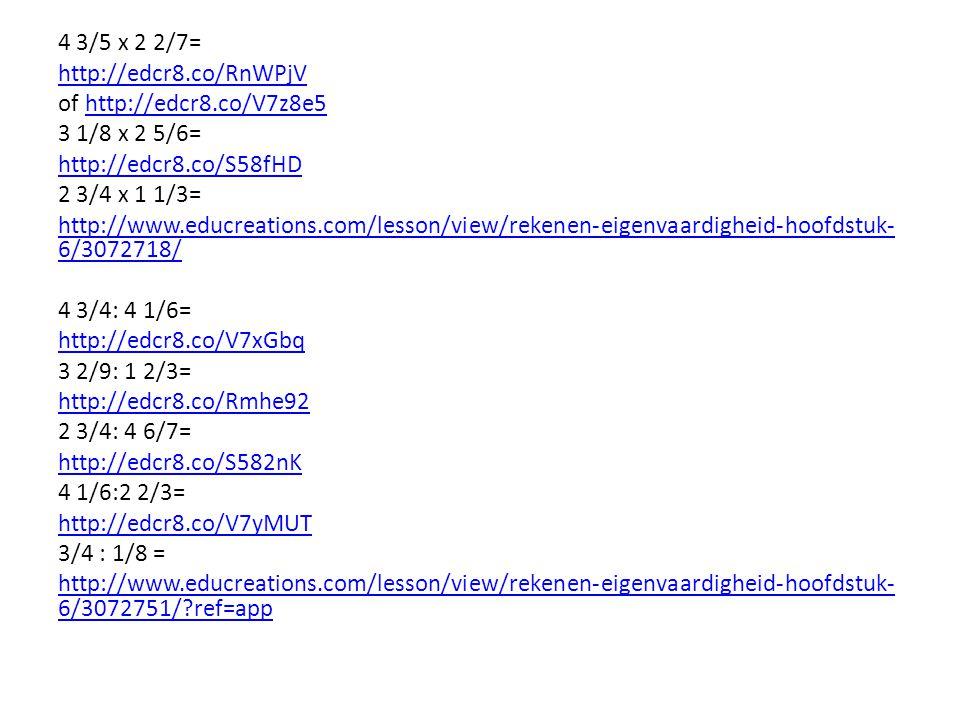 4 3/5 x 2 2/7= http://edcr8.co/RnWPjV. of http://edcr8.co/V7z8e5. 3 1/8 x 2 5/6= http://edcr8.co/S58fHD.