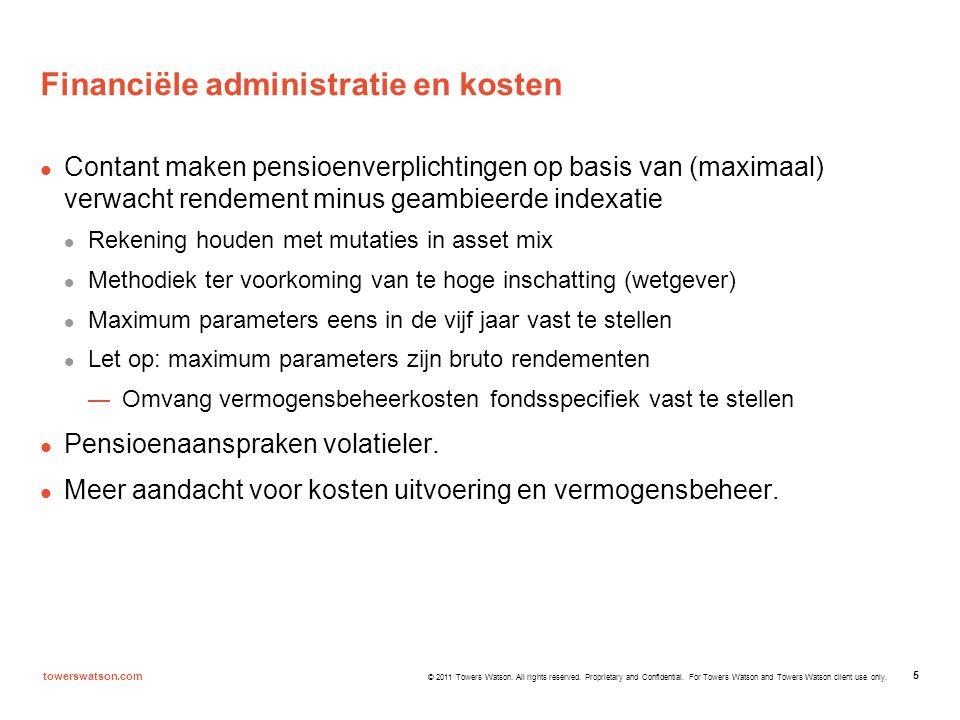 Financiële administratie en kosten