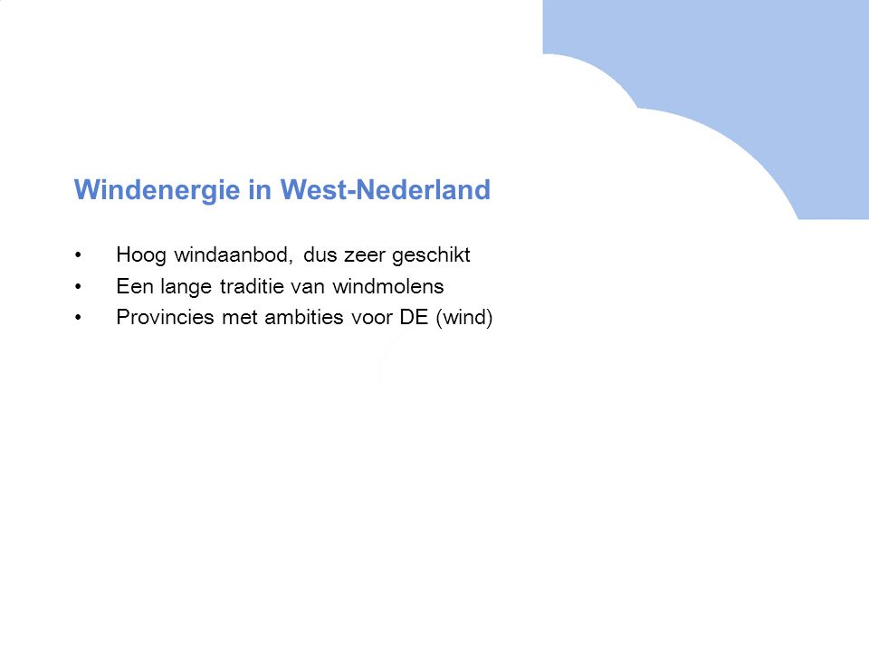 Windenergie in West-Nederland