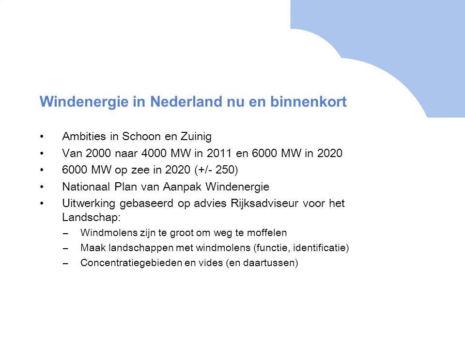 Windenergie in Nederland nu en binnenkort