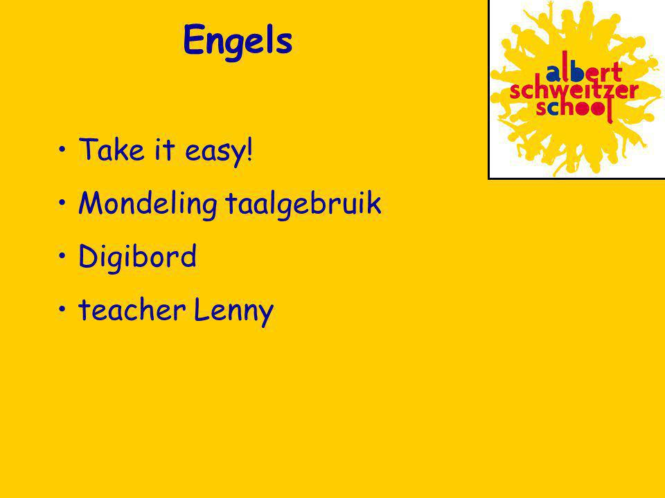 Engels Take it easy! Mondeling taalgebruik Digibord teacher Lenny