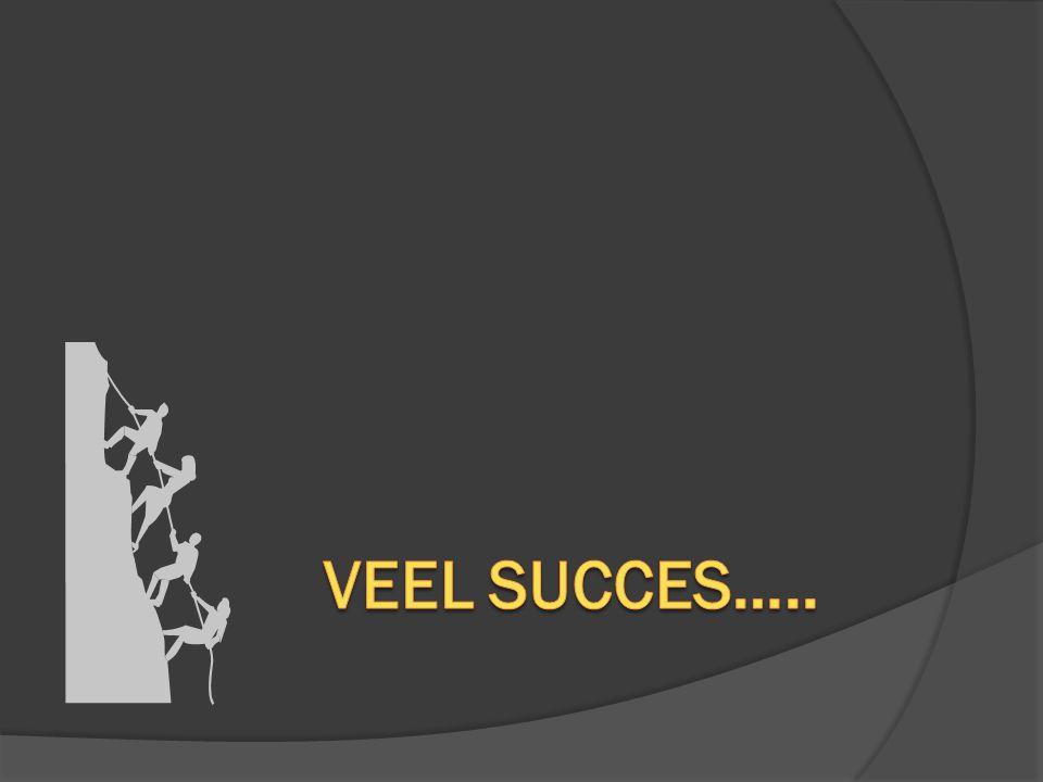 Veel succes…..