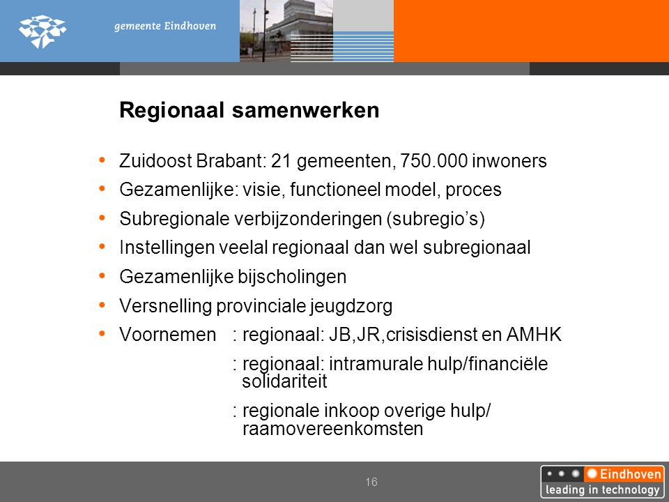 Regionaal samenwerken