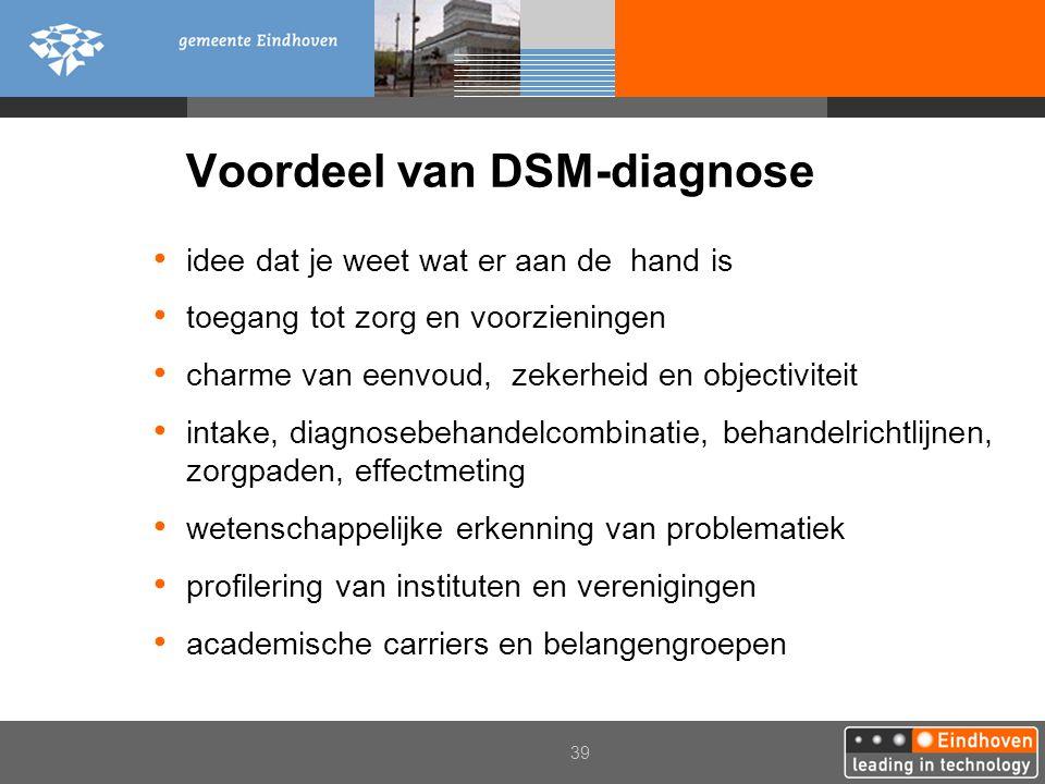 Voordeel van DSM-diagnose