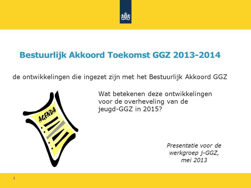 Bestuurlijk Akkoord Toekomst GGZ 2013-2014