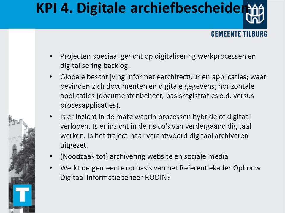 KPI 4. Digitale archiefbescheiden