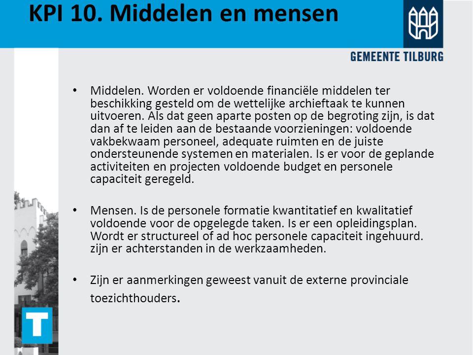 KPI 10. Middelen en mensen