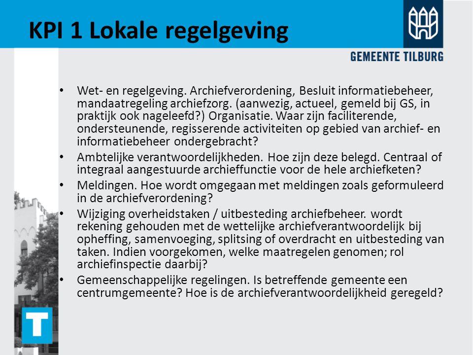 KPI 1 Lokale regelgeving