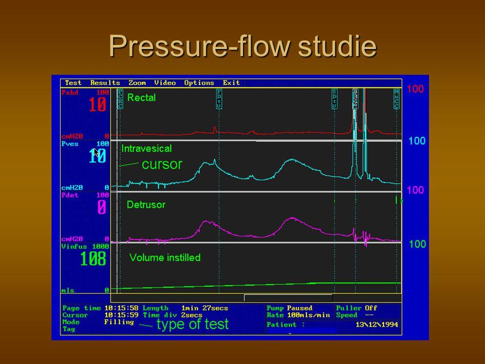 Pressure-flow studie