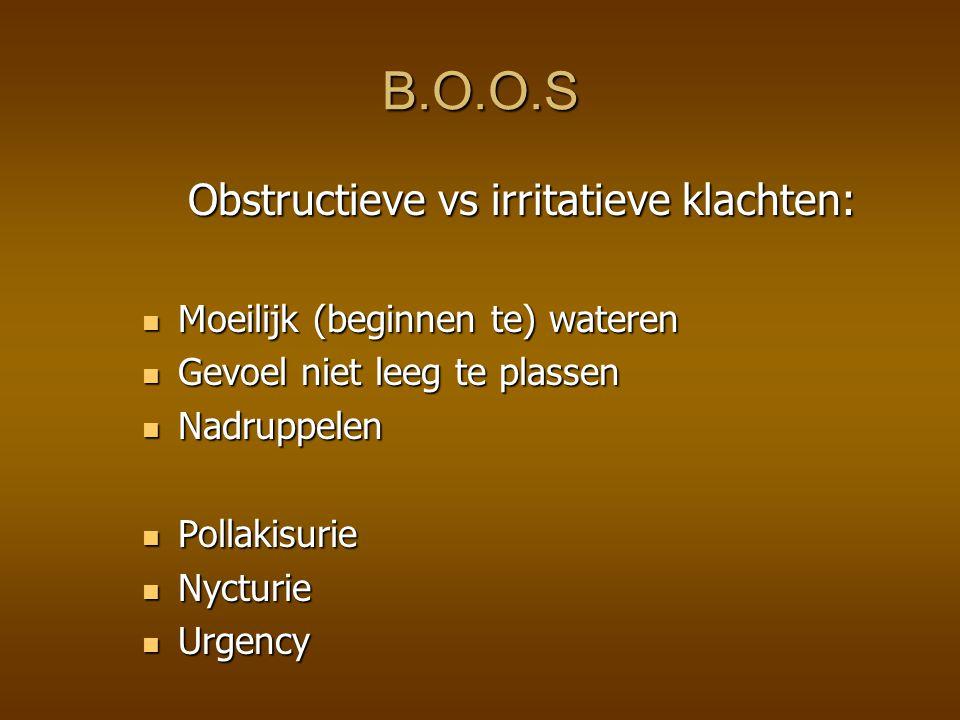 Obstructieve vs irritatieve klachten: