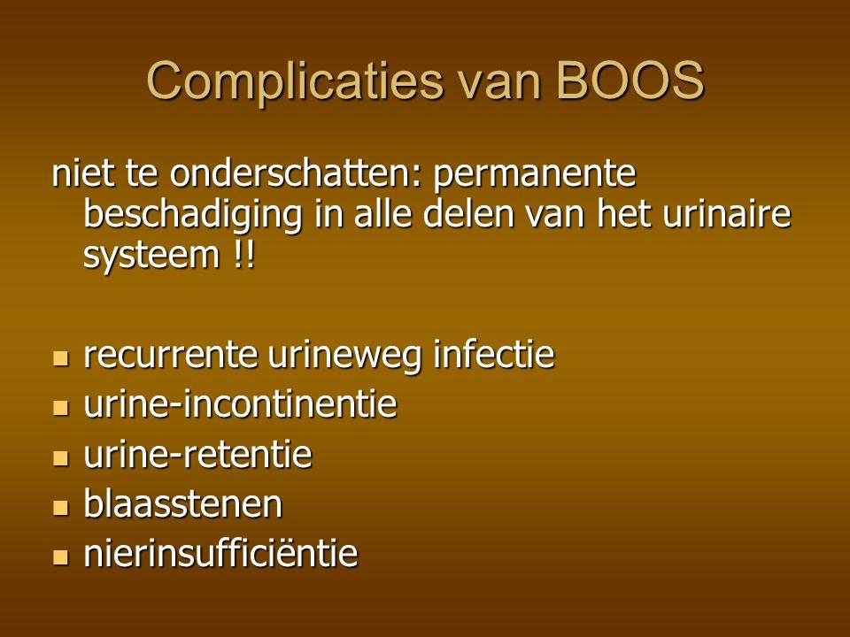 Complicaties van BOOS niet te onderschatten: permanente beschadiging in alle delen van het urinaire systeem !!
