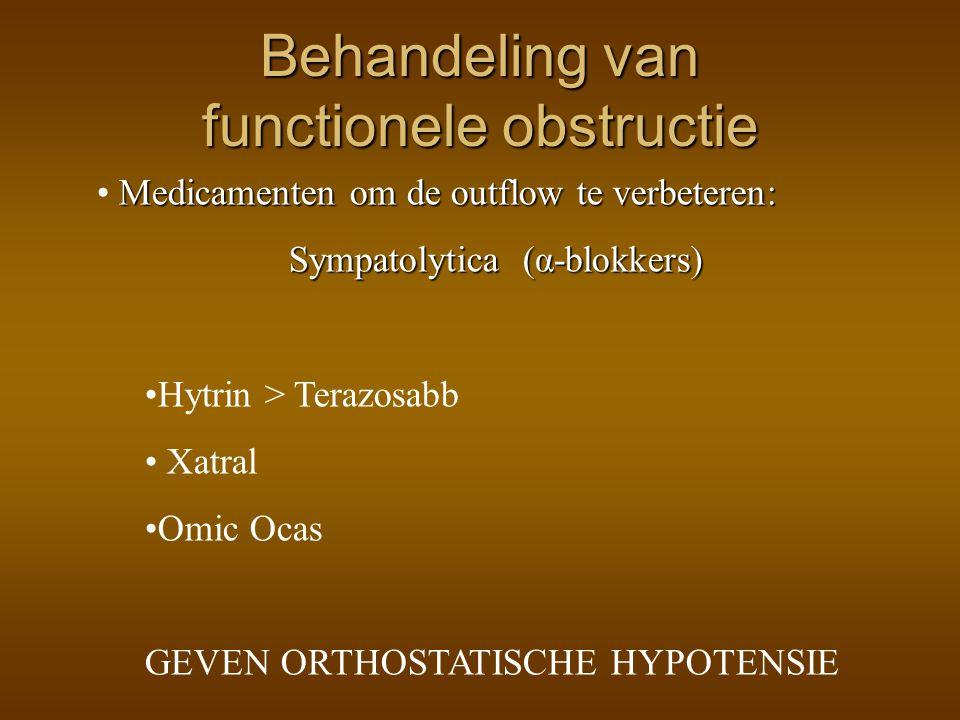 Behandeling van functionele obstructie