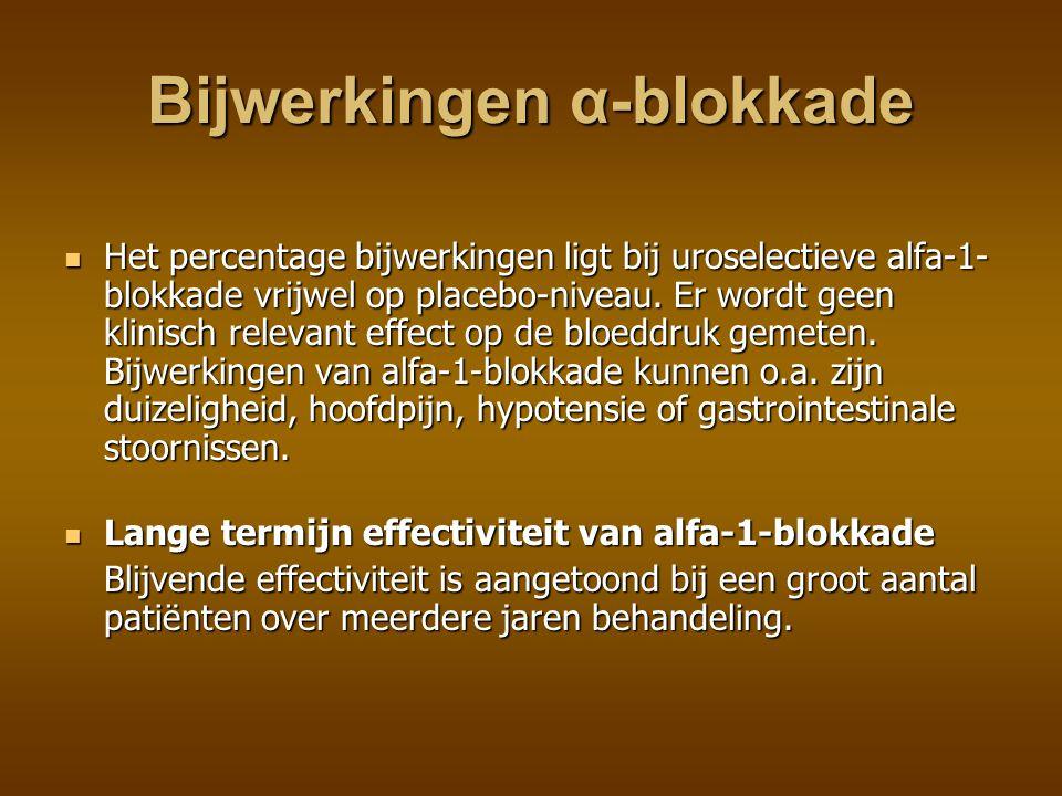 Bijwerkingen α-blokkade