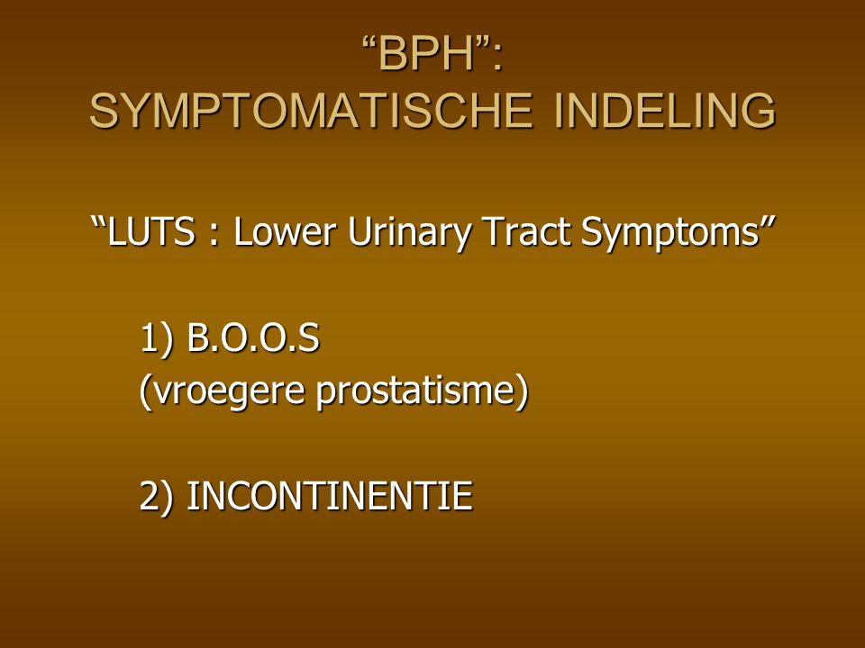 BPH : SYMPTOMATISCHE INDELING