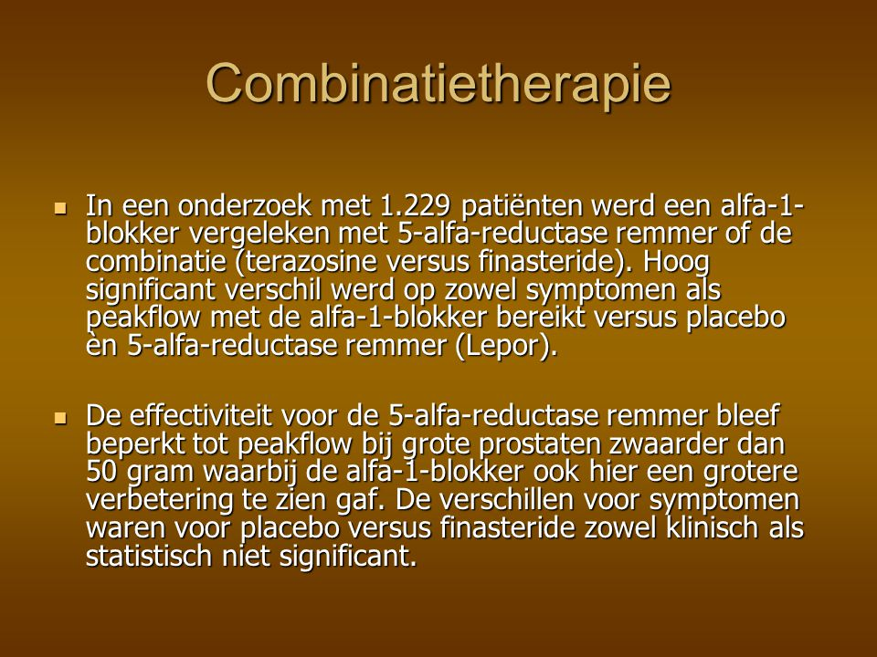 Combinatietherapie