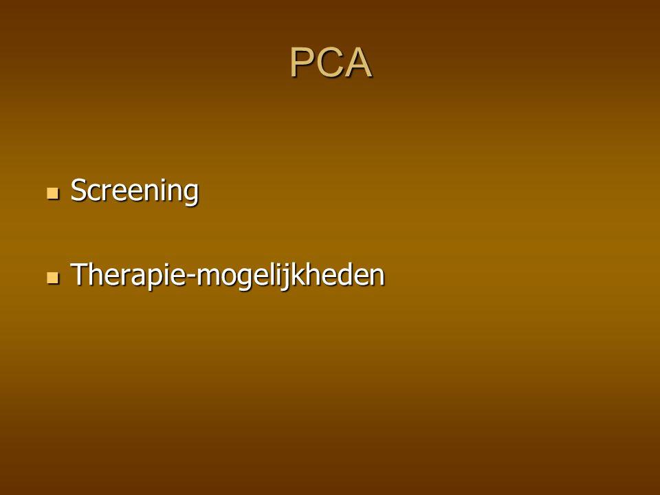 PCA Screening Therapie-mogelijkheden