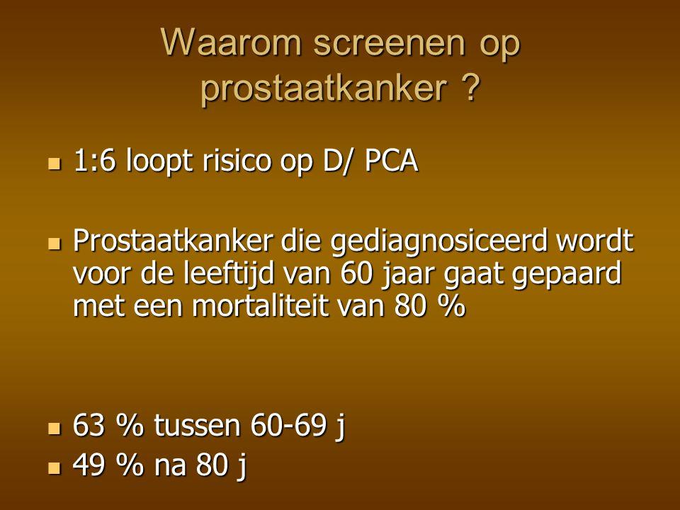Waarom screenen op prostaatkanker