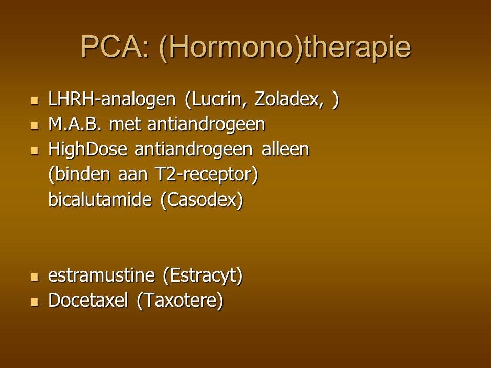 PCA: (Hormono)therapie