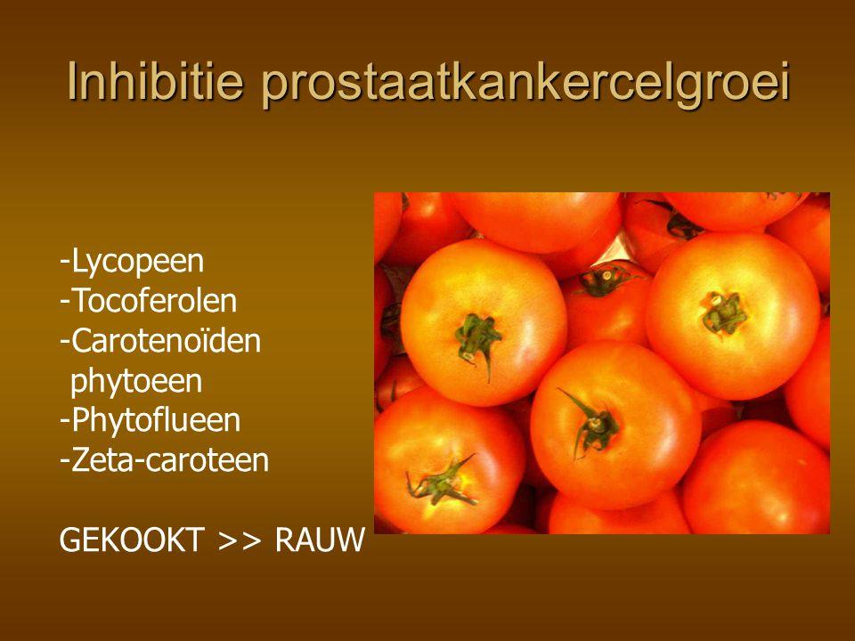 Inhibitie prostaatkankercelgroei