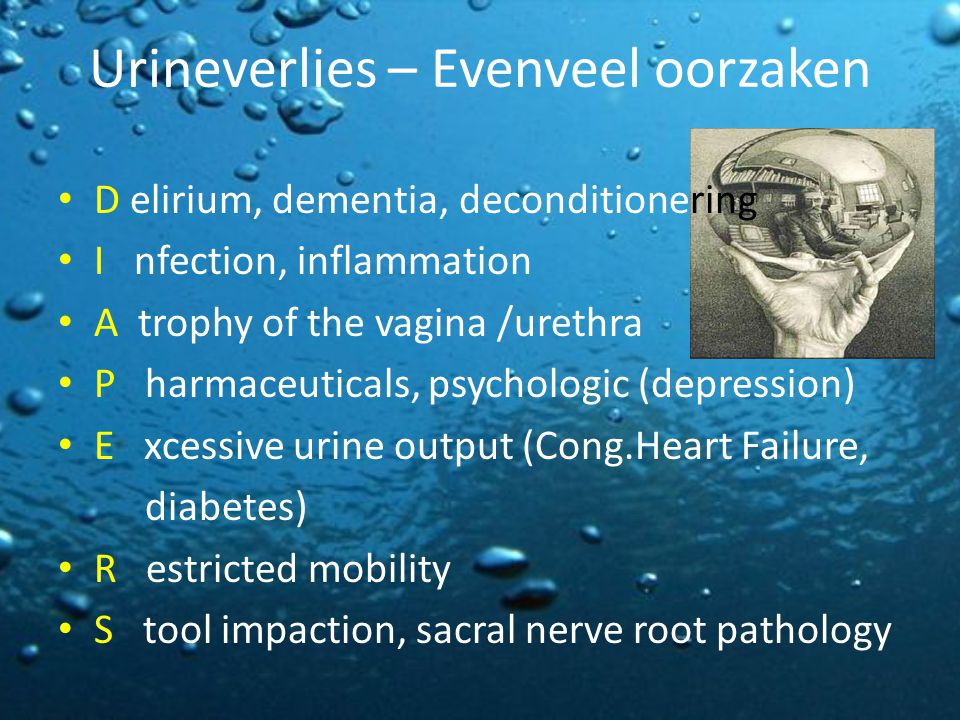 Urineverlies – Evenveel oorzaken