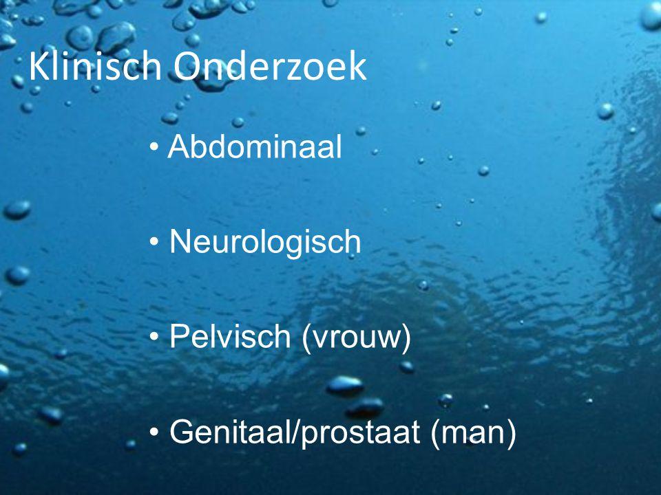 Klinisch Onderzoek Abdominaal Neurologisch Pelvisch (vrouw)