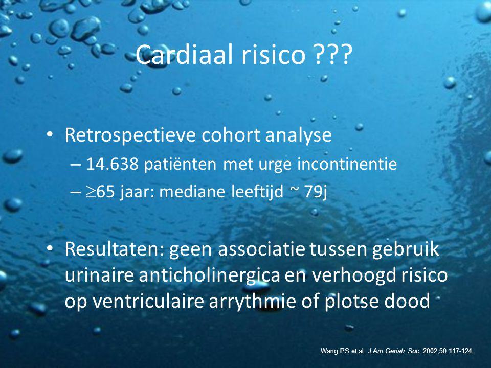 Cardiaal risico Retrospectieve cohort analyse