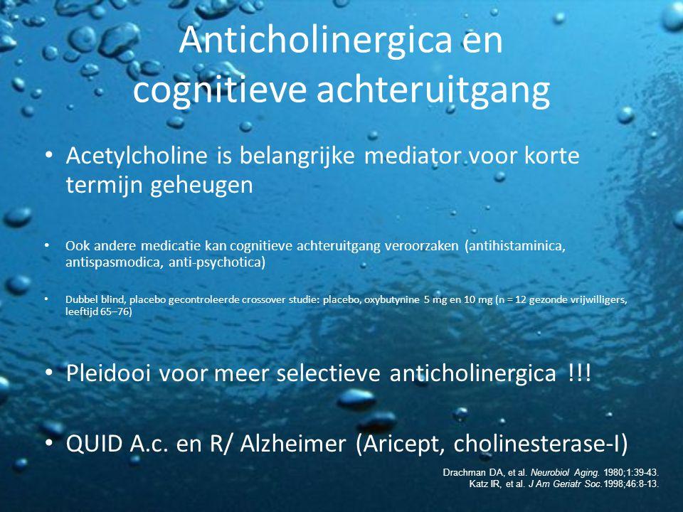 Anticholinergica en cognitieve achteruitgang