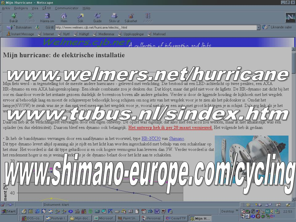 www.welmers.net/hurricane www.tubus.nl/sindex.htm www.shimano-europe.com/cycling