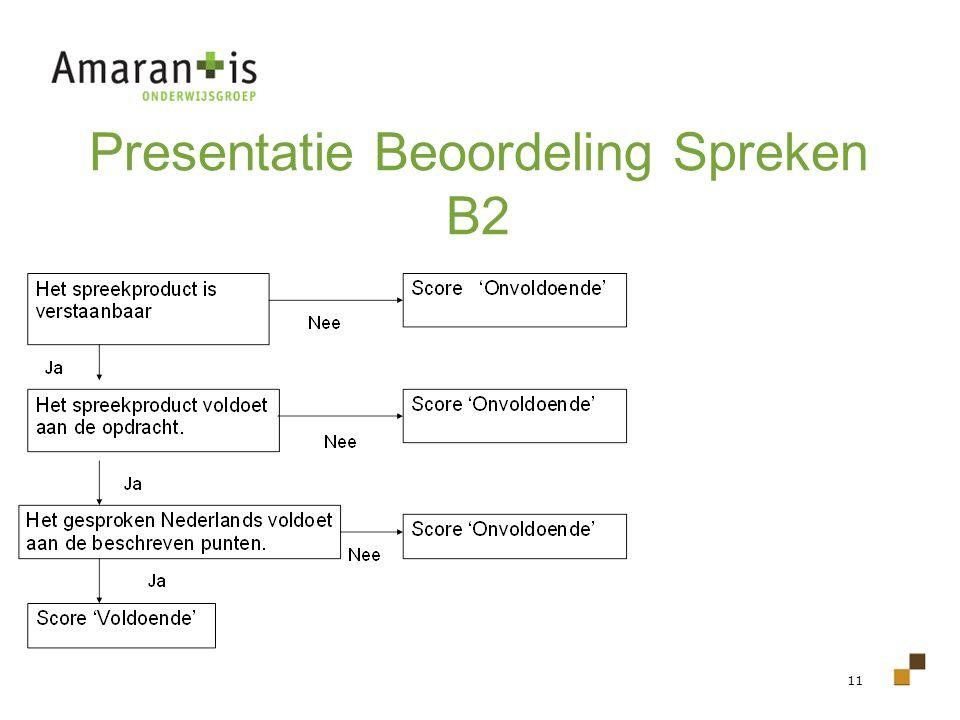 Presentatie Beoordeling Spreken B2