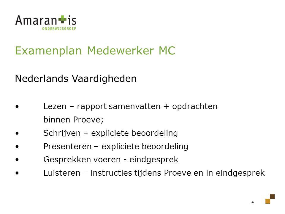 Examenplan Medewerker MC