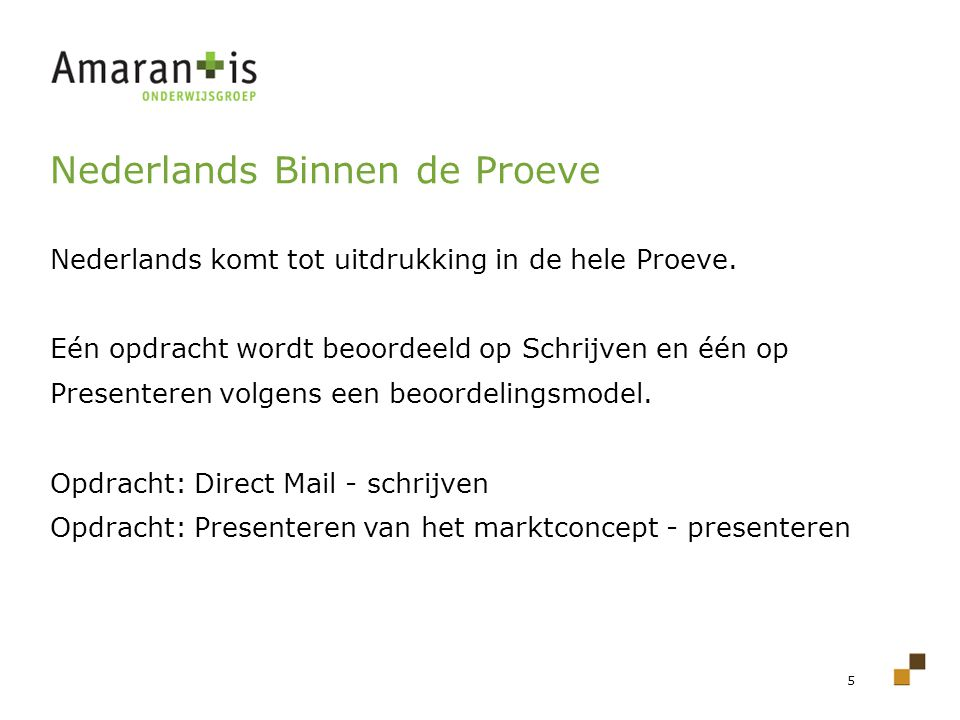 Nederlands Binnen de Proeve