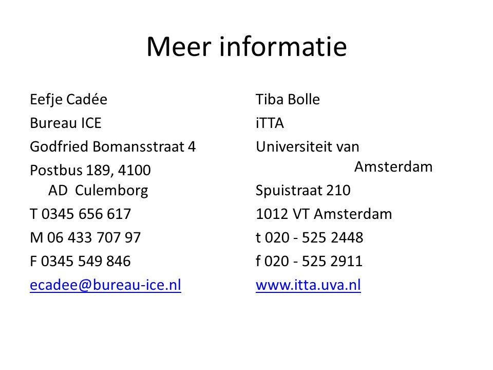 Meer informatie Eefje Cadée Bureau ICE Godfried Bomansstraat 4