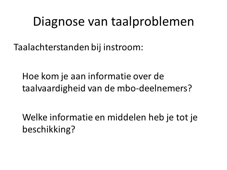 Diagnose van taalproblemen