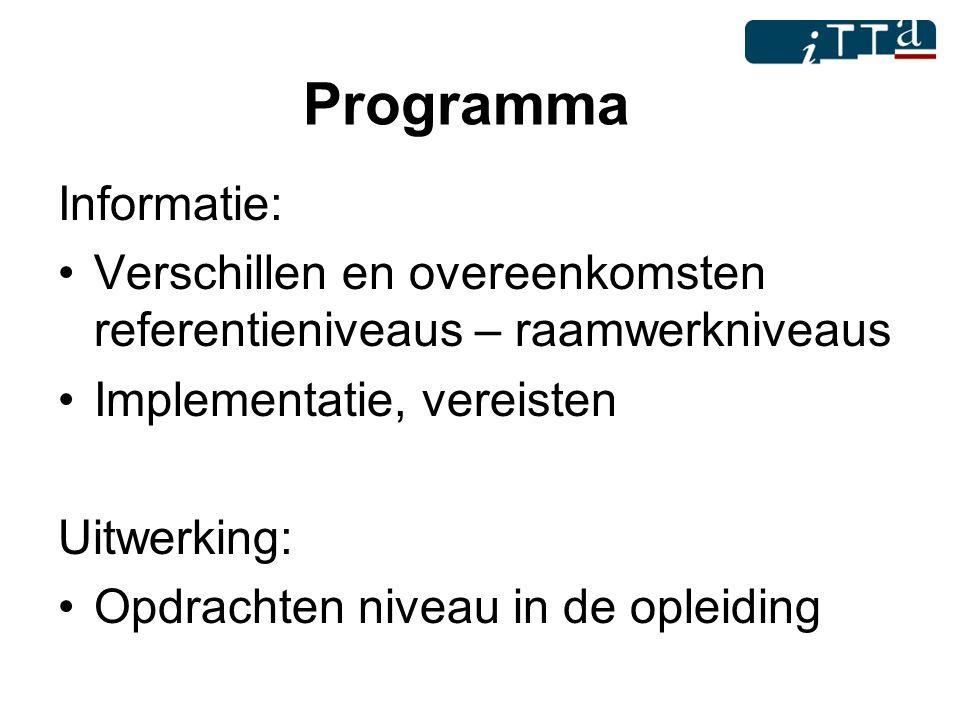 Programma Informatie: